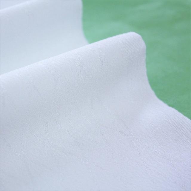 シルフィル紋えり 白色 紋綸子 立枠柄