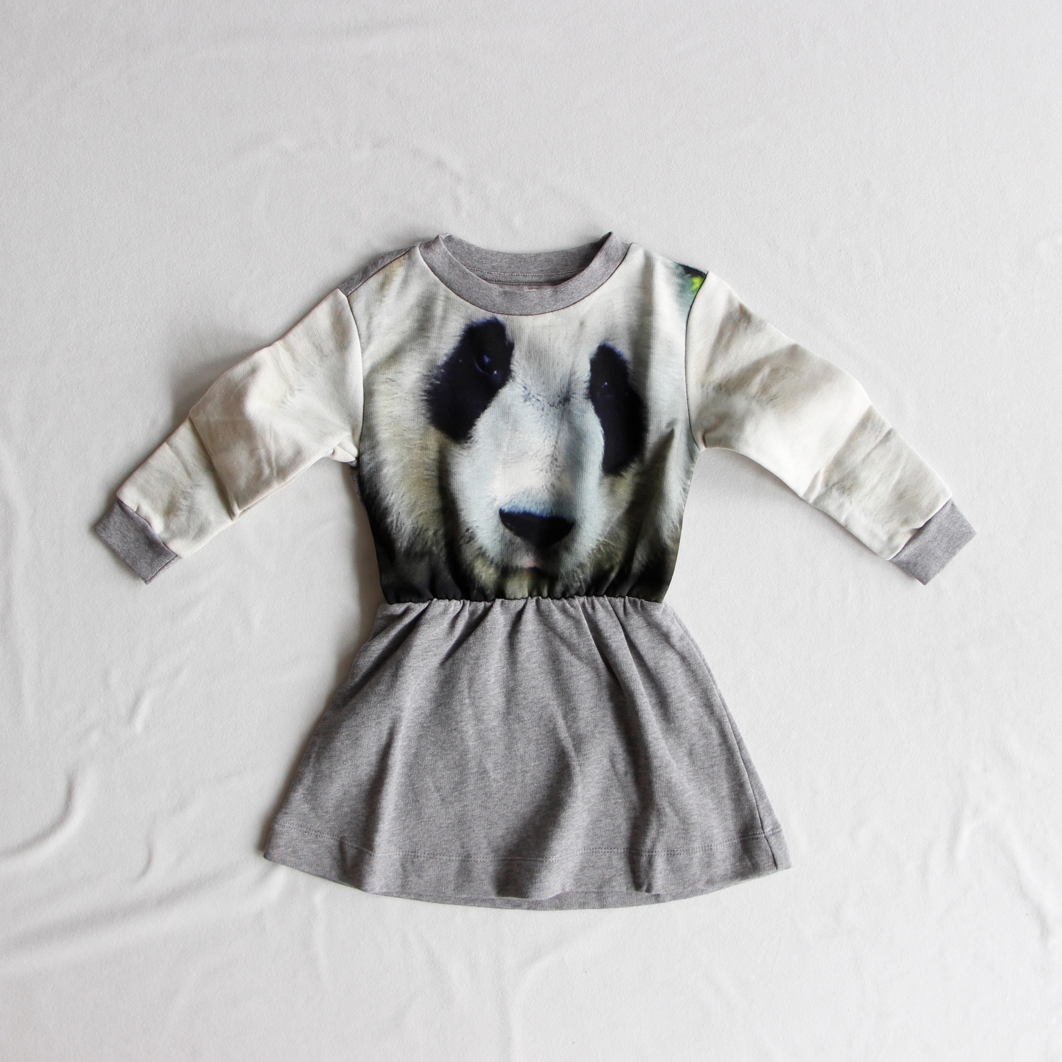 《POPUPSHOP 2015AW》LOOSE DRESS / panda / 2-3・3-4Y