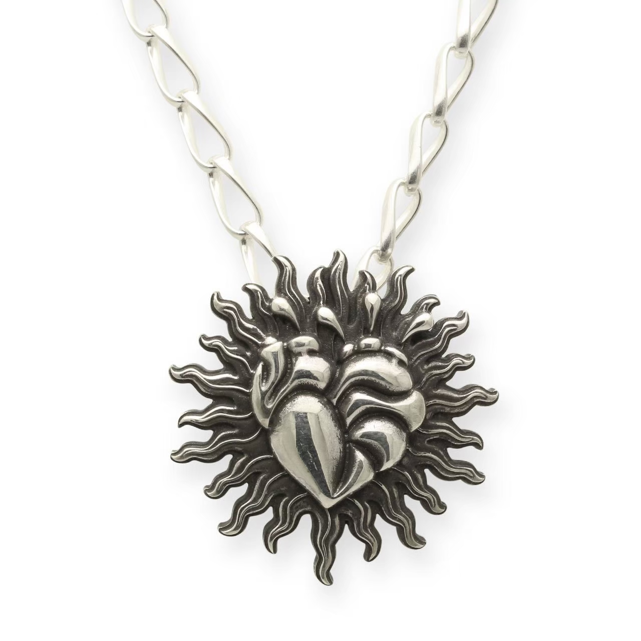 A Man EmblemHeartNecklace エーエムエーエヌ エンブレムハートネックレス