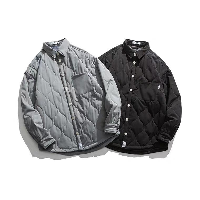 【UNISEX】シンプル ダイヤモンド チェック シャツ ジャケット【2colors】