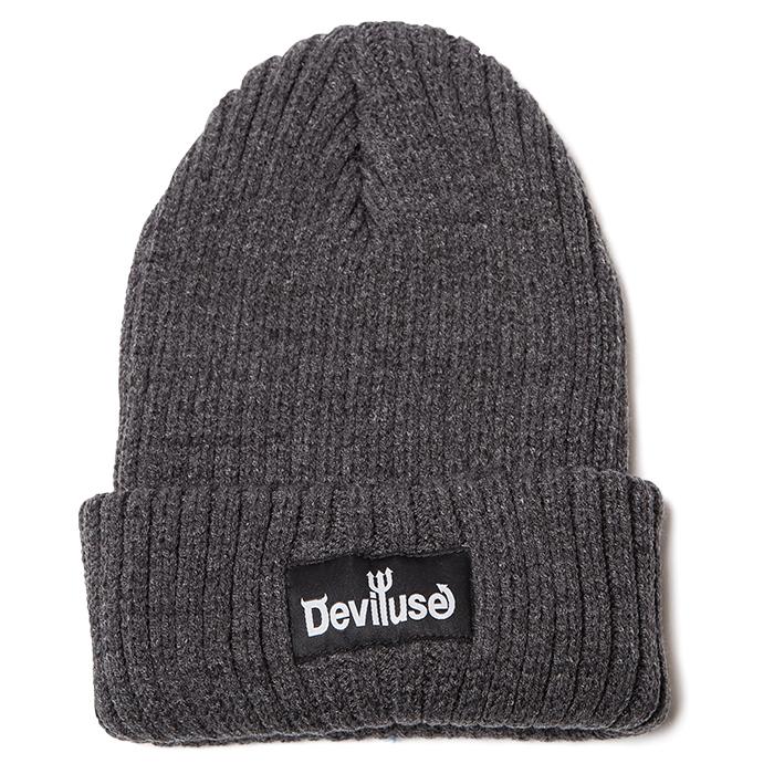 【Deviluse | デビルユース】Logo Beanie(Gray)