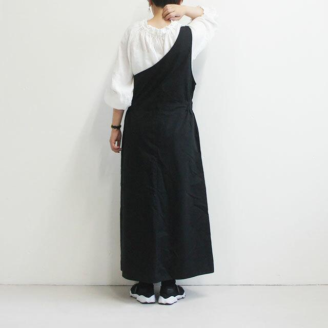 kiino. キイノ バイオウォッシュツイルワンショルダーワンピース 【返品交換不可】 (品番k-004)