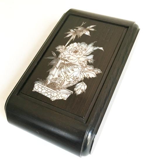 林社製 螺鈿(華) 黒檀 標準サイズ