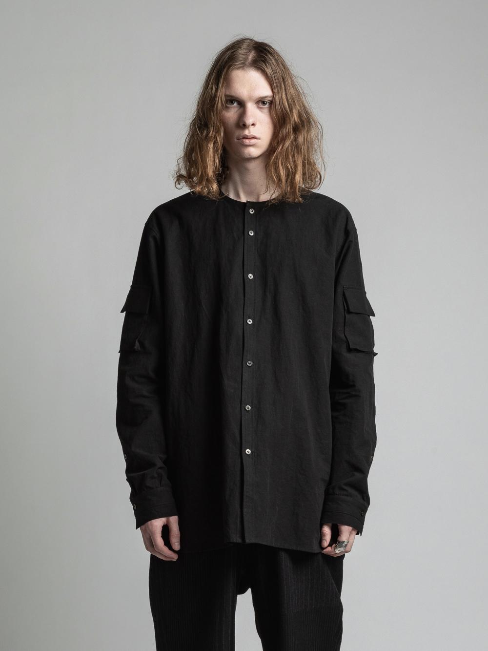VI-3267-02 / コットンリネン袖ポケット長袖シャツ