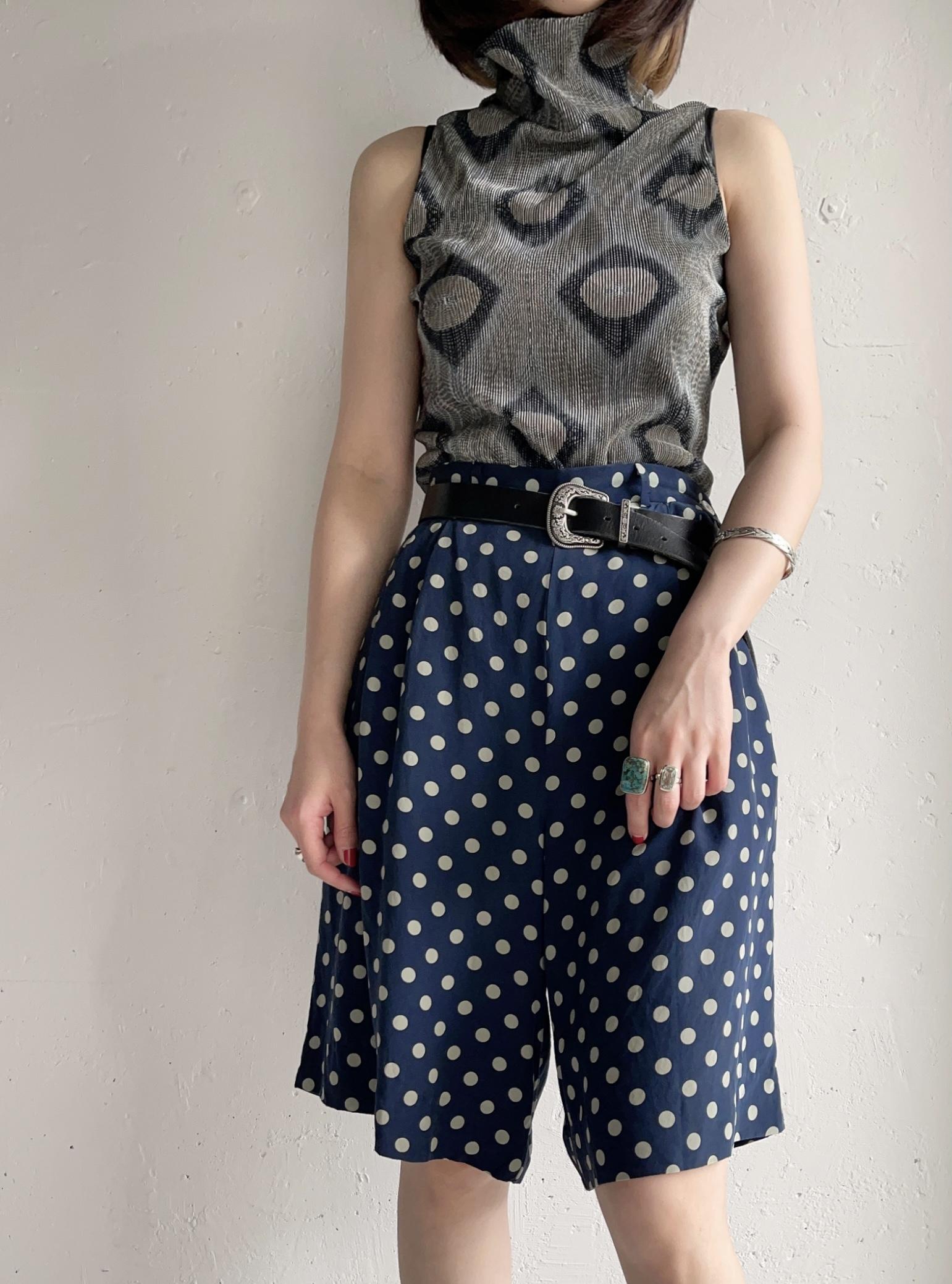 """Ralph Lauren"" vintage dot pattern half pants"