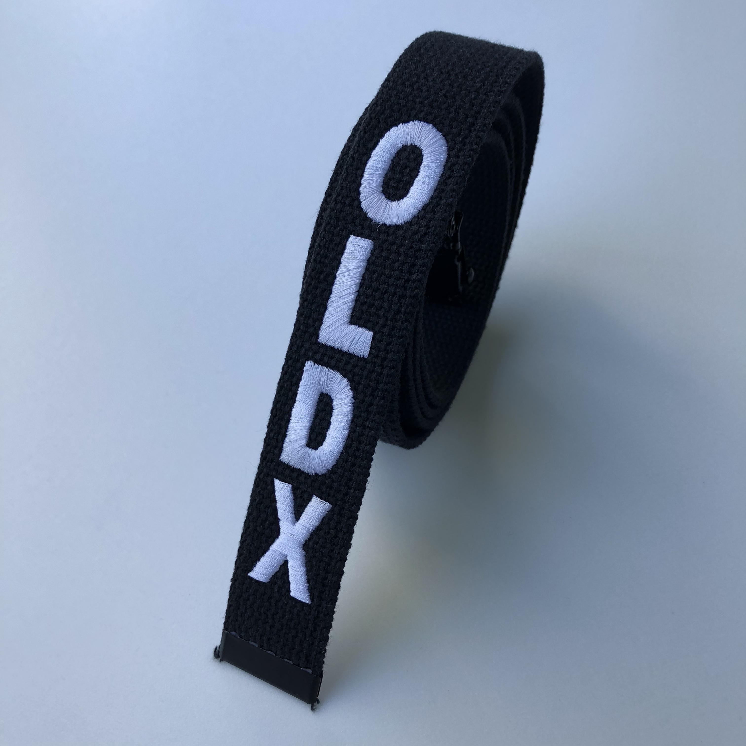 Long web belt BLACK/WHITE