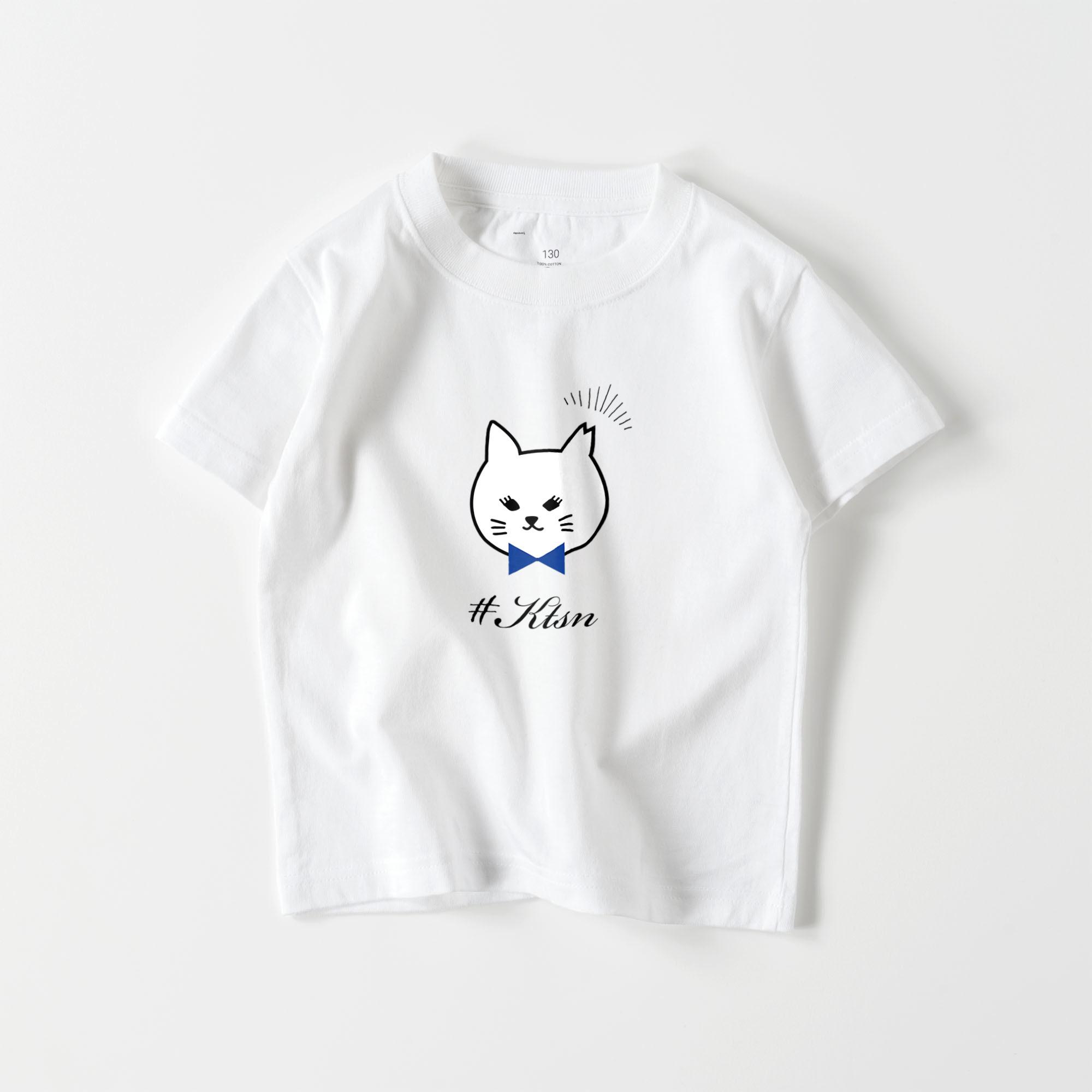 #KTSN×kaco 白猫キッズTシャツ