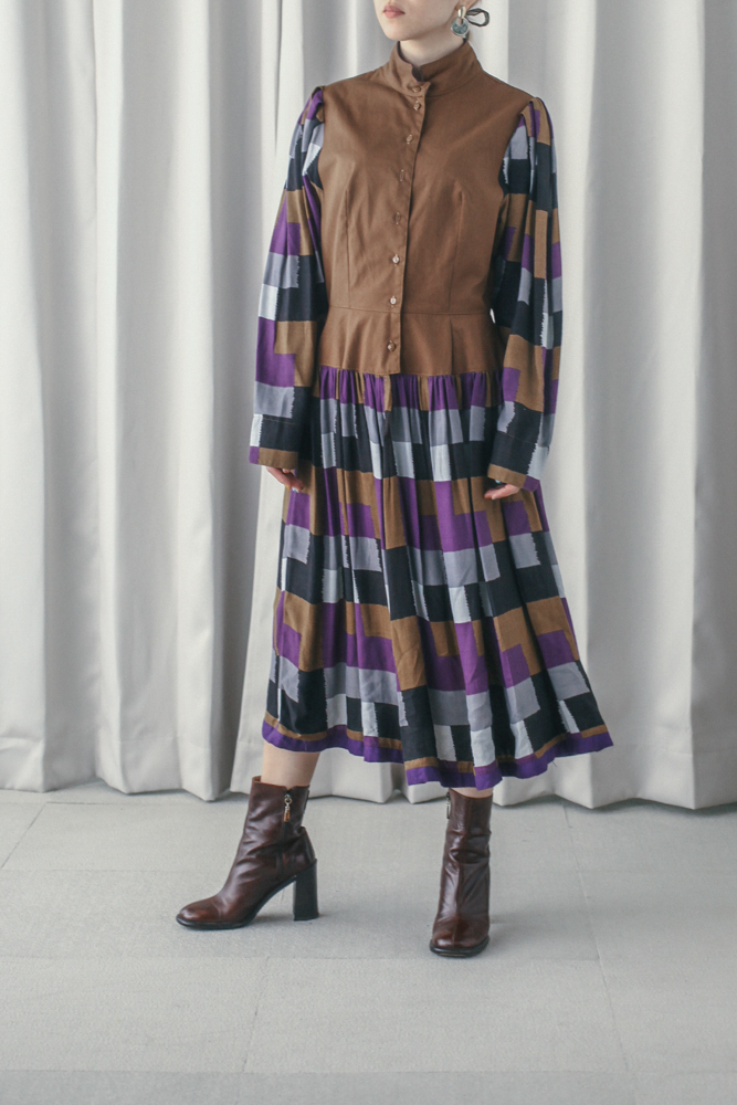 70's Made in France Low Waist Dress