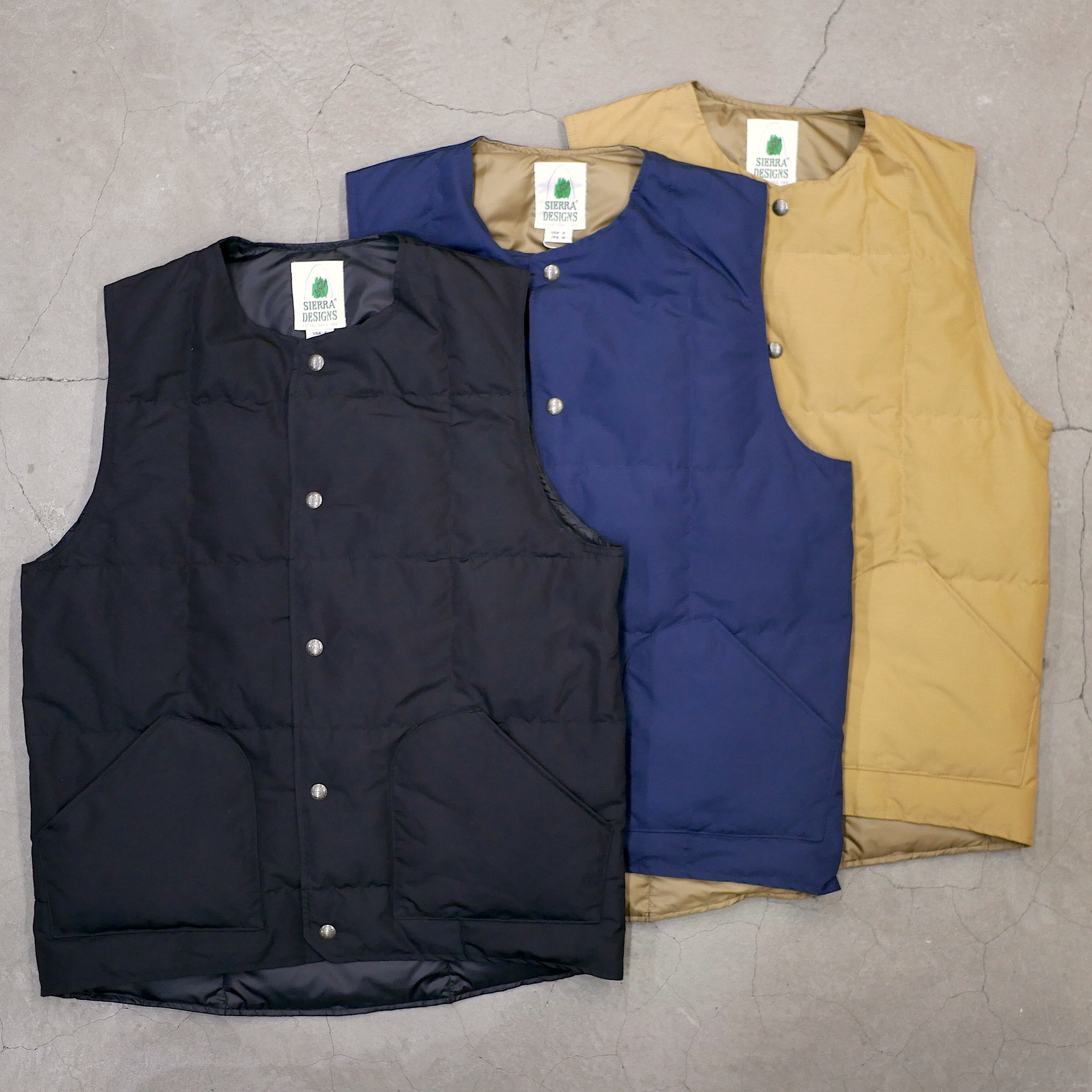 SIERRA DESIGNS / CREW NECK DOWN VEST