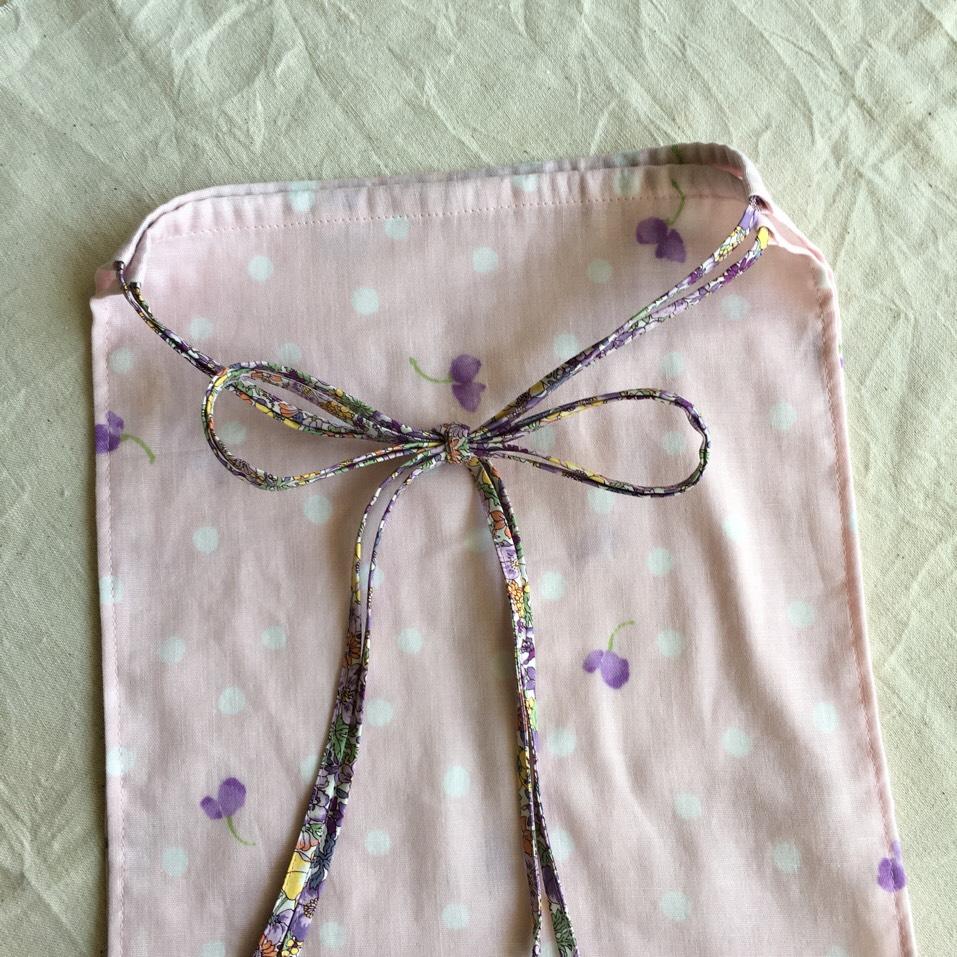 体を締め付けない♪ふんどしパンツ ピンク系ダブルガーゼ×紫系花柄 - 画像1