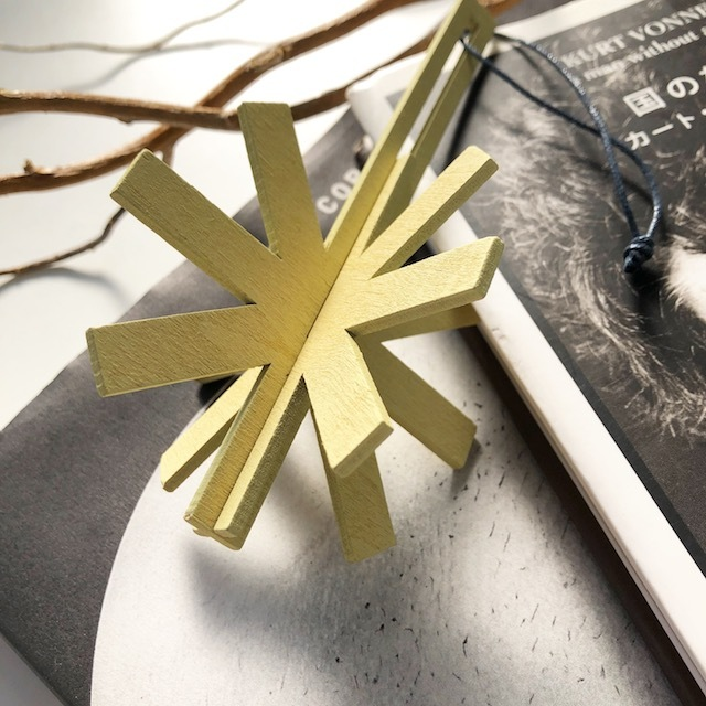 Christmas ornament -wooden ジョイントオーナメント・snowflake(BE)-