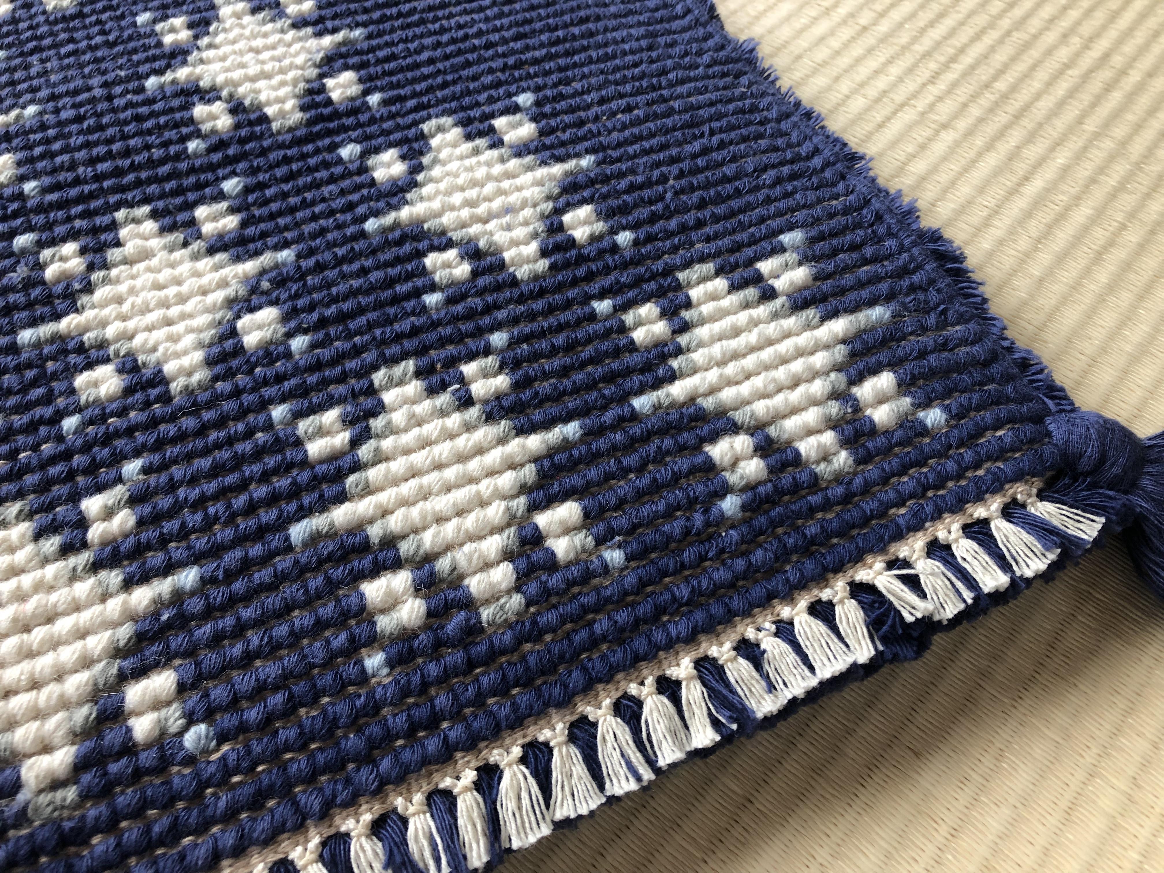 雪の星(紺、白、灰、水)