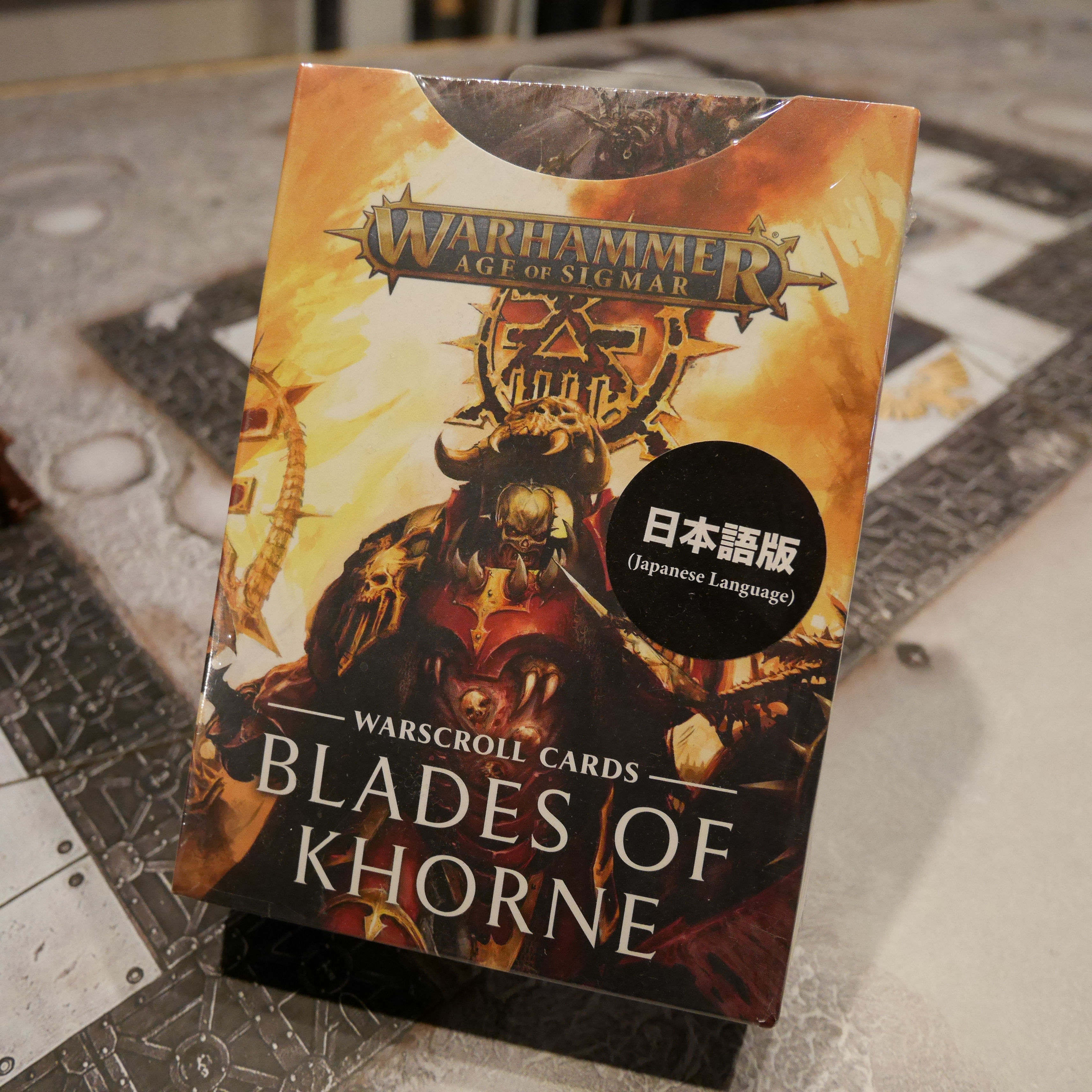 AGE OF SIGMAR WARSCROLL CARDS BLADES OF KHORNE 日本語版
