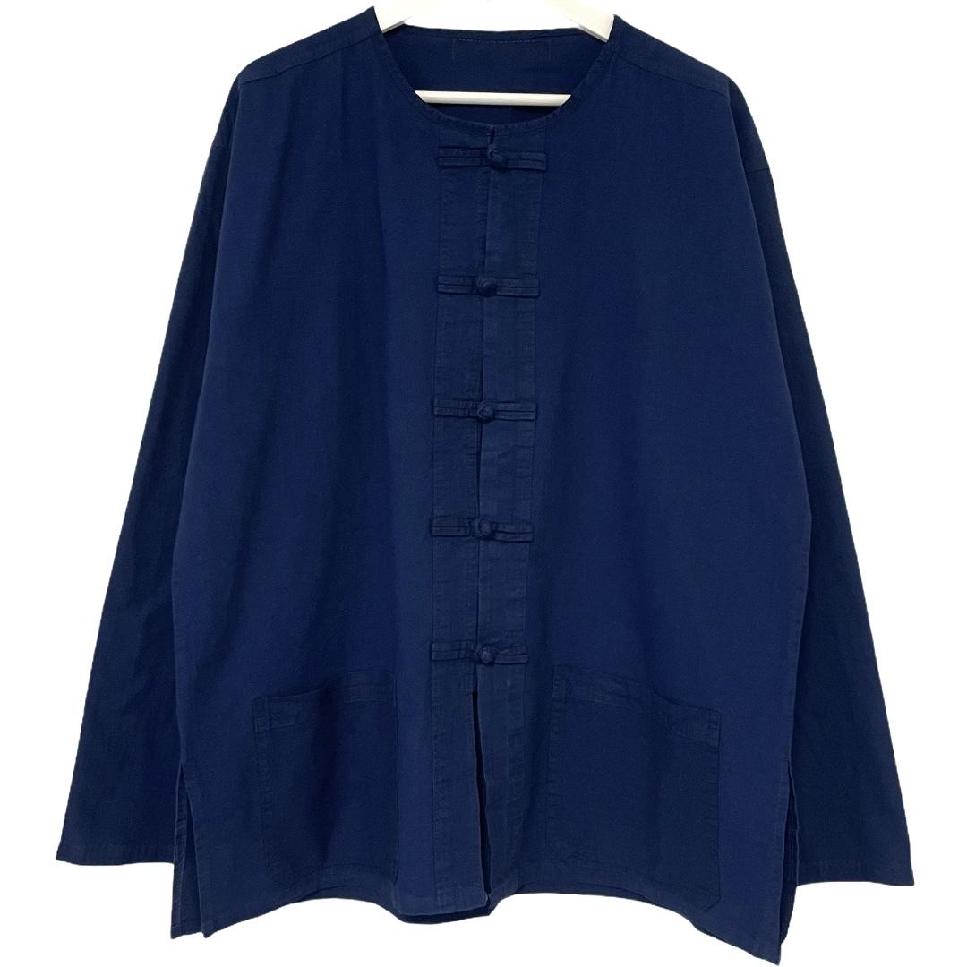 Indigo China Shirt L