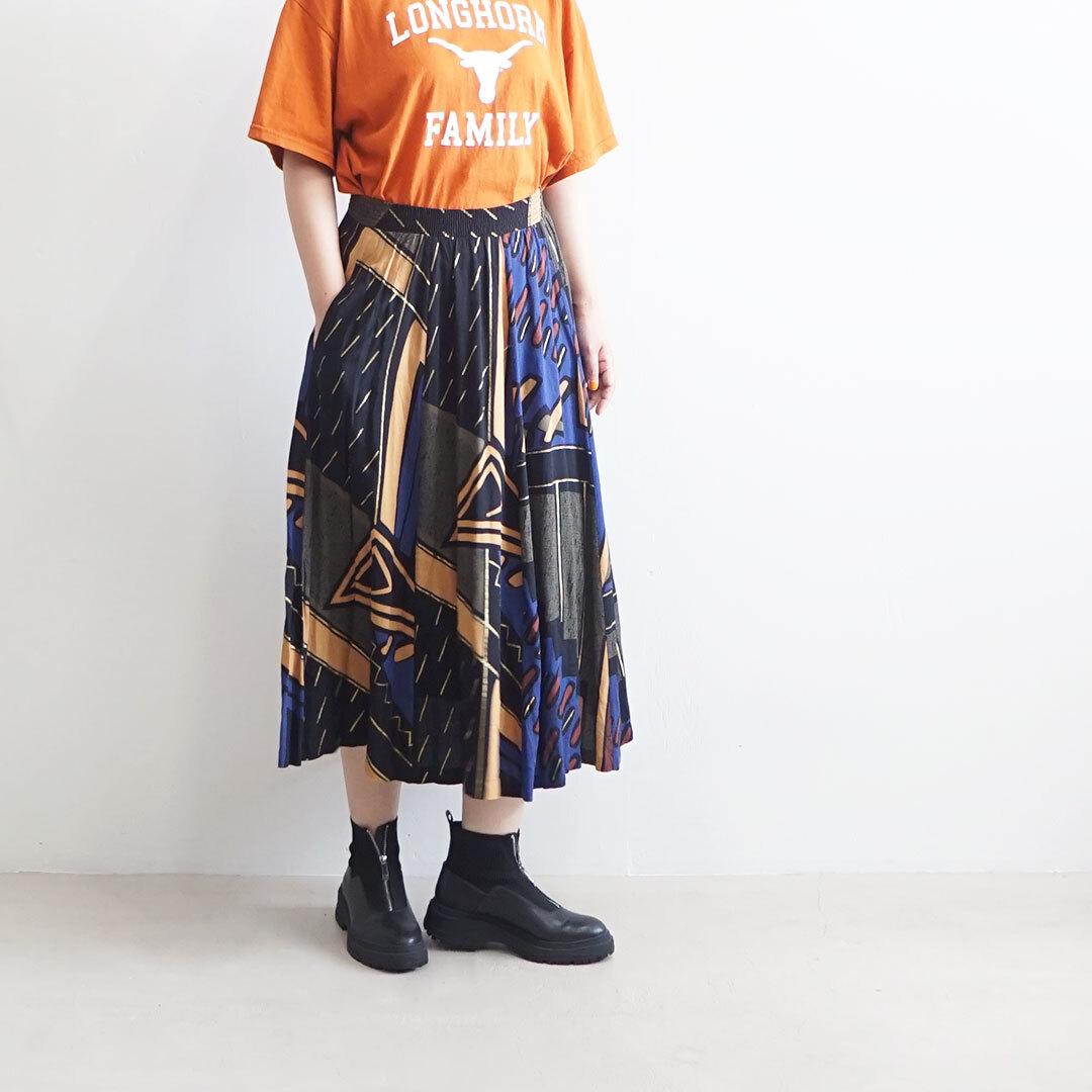 【再入荷なし】 USED 古着 スカート(BLACK柄) (品番used-023)
