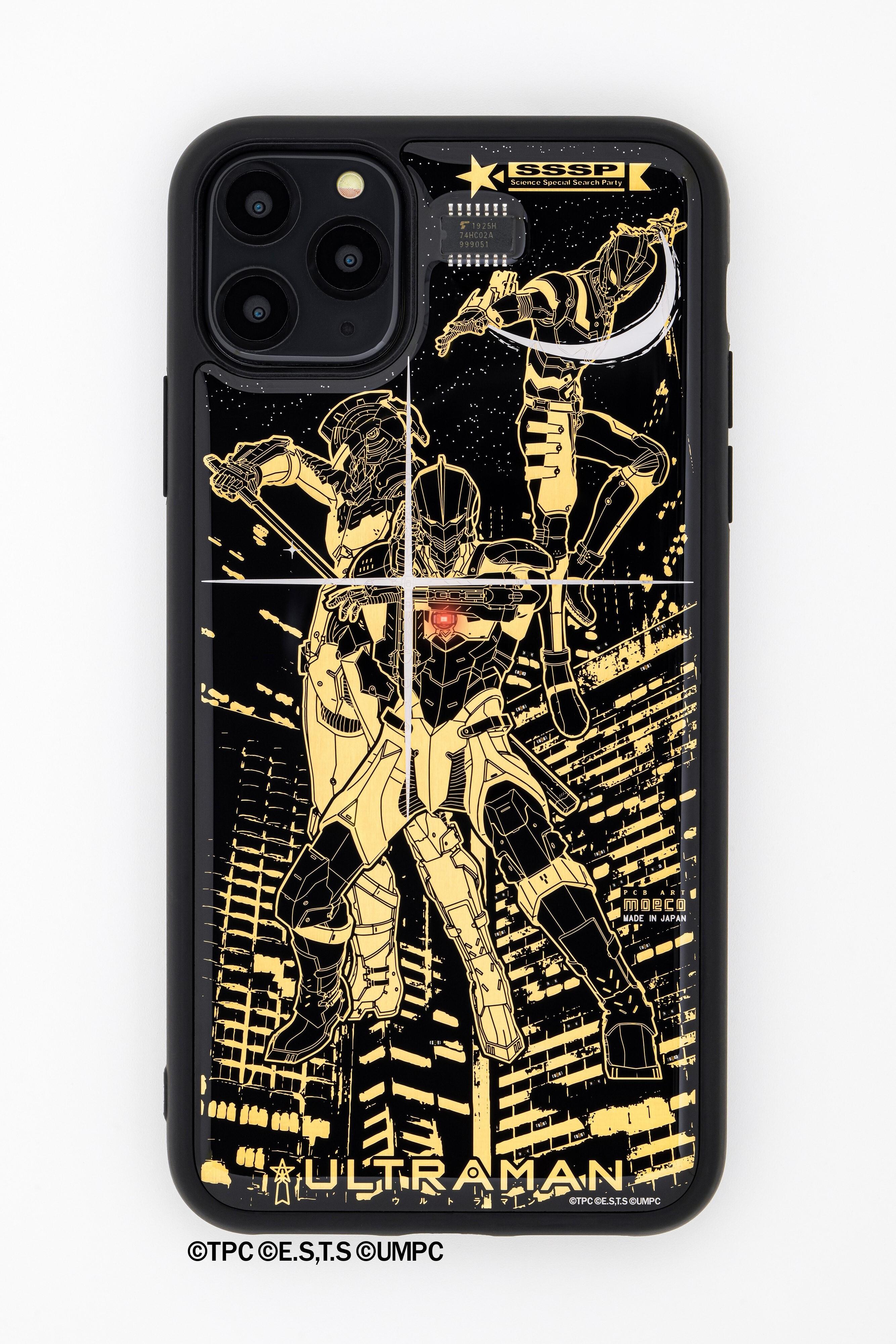 FLASH ウルトラマン 基板アート iPhone 11 Pro Maxケース 【東京回路線図A5クリアファイルをプレゼント】