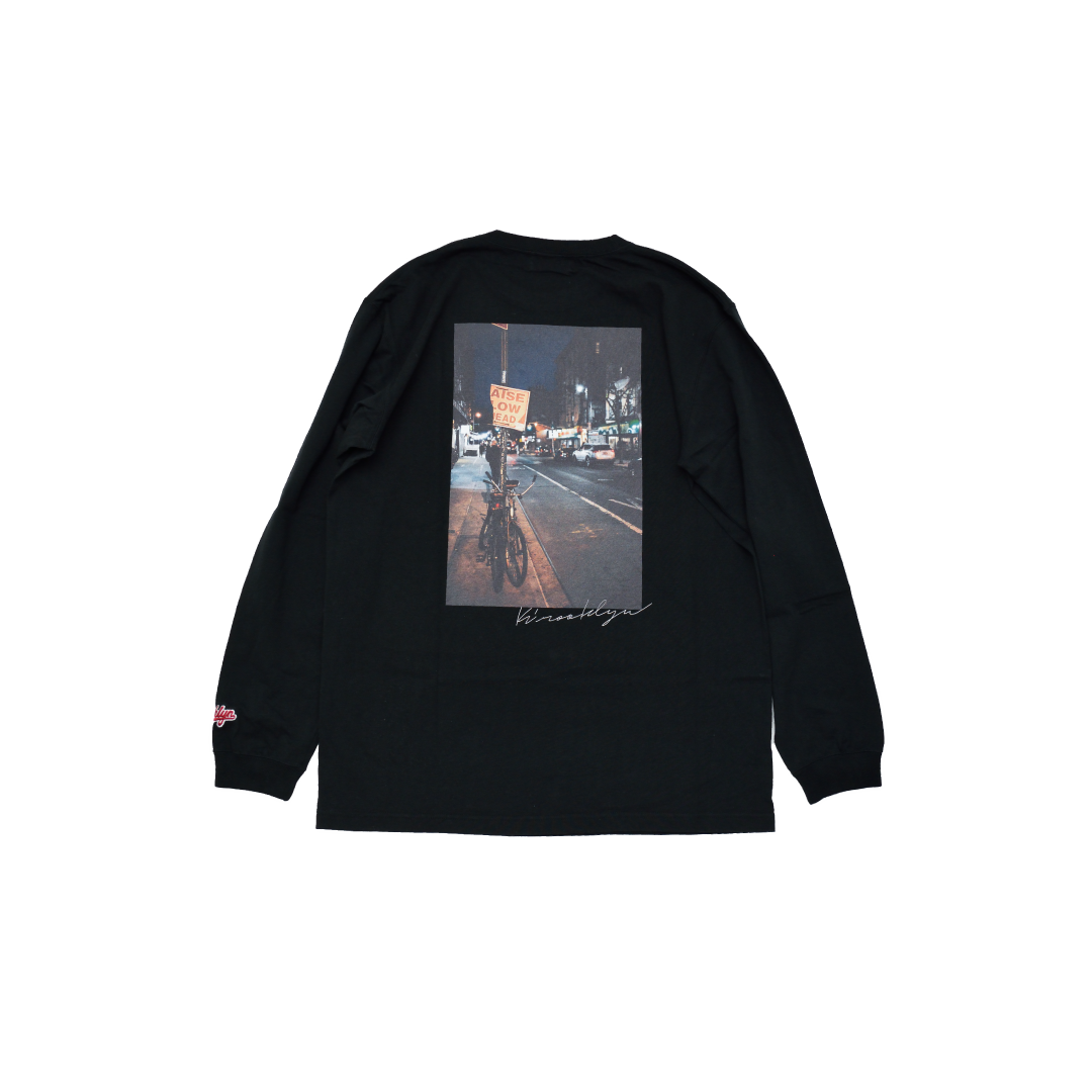 K'rooklyn Long T-Shirt × cherry chill will. - Black