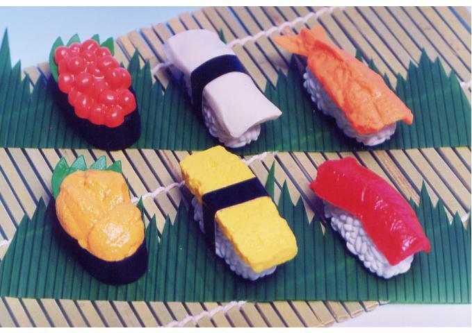 【おもしろ消しゴム】 お寿司