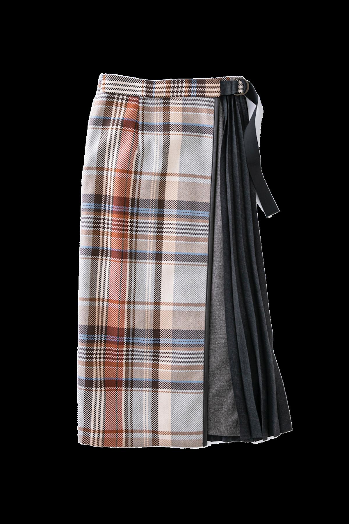 ドッキングスカート<ベージュチェック>