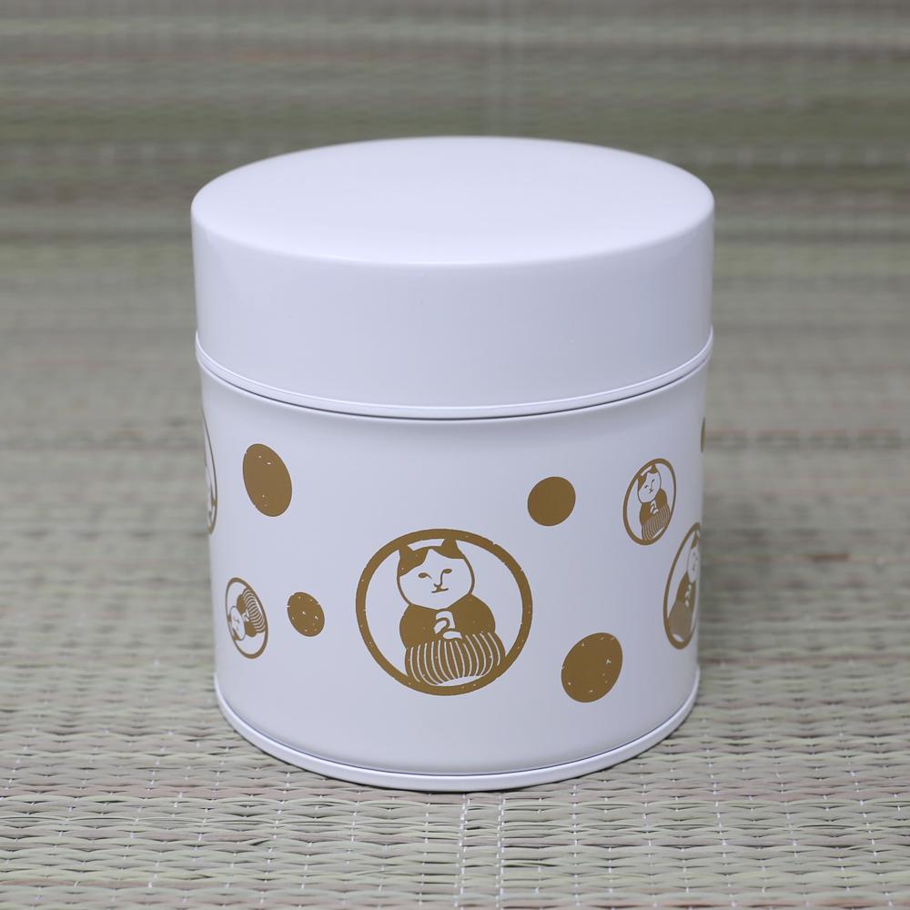猫茶筒(ねこ茶商茶紋ドット)