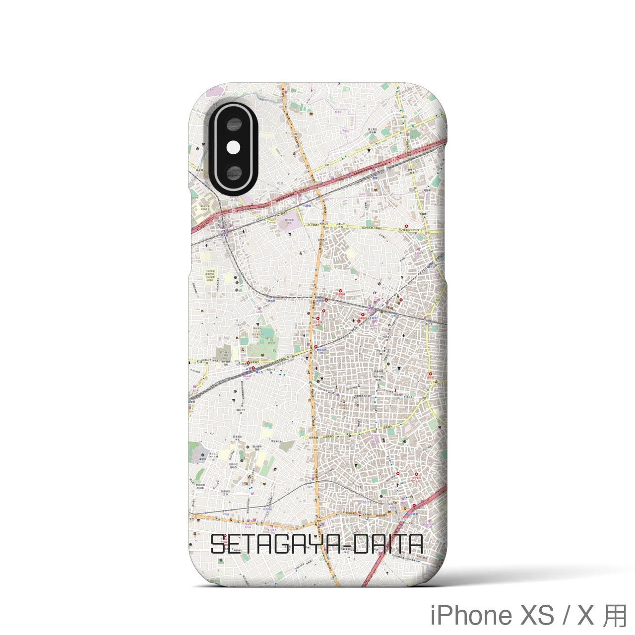 【世田谷代田】地図柄iPhoneケース(バックカバータイプ・ナチュラル)