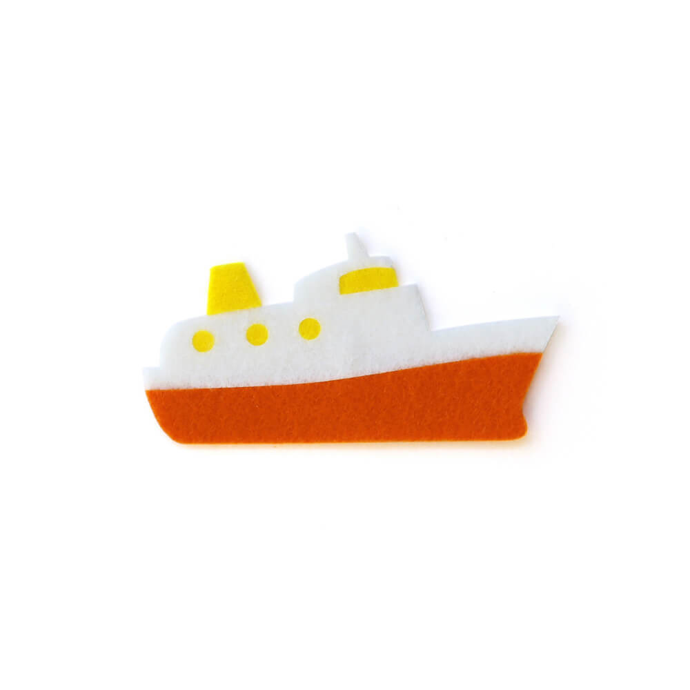 アイロン接着 フェルト アップリケ(船)