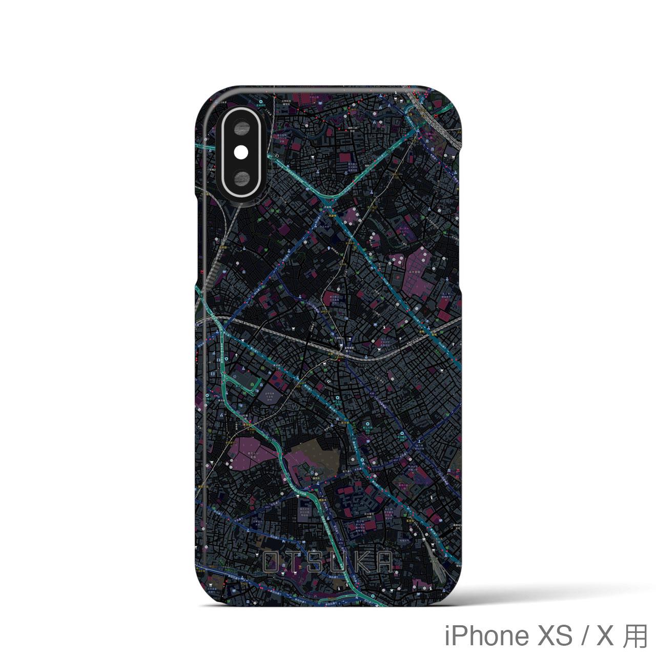 【大塚】地図柄iPhoneケース(バックカバータイプ・ブラック)