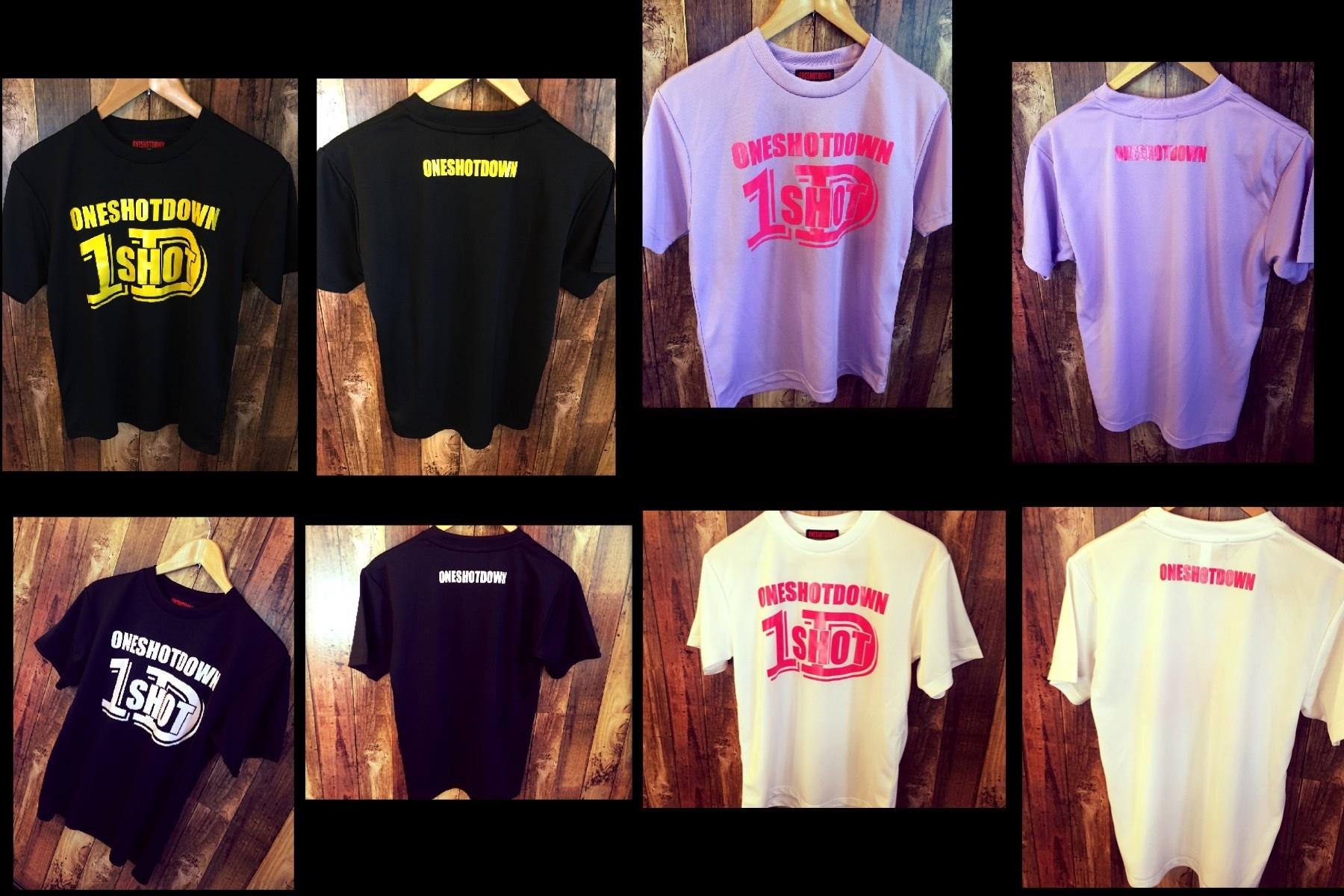 ONESHOTDOWN ロゴ ドライTシャツ - 画像3