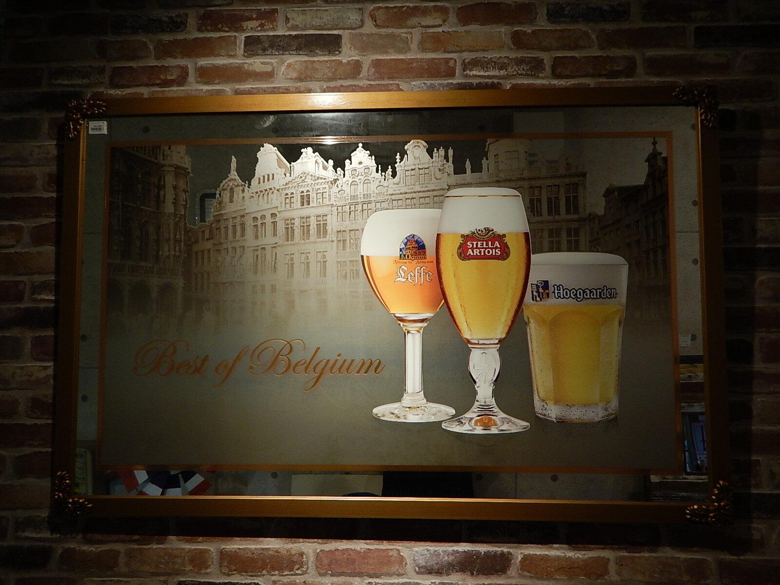 品番0067 新品 パブミラー 特大サイズ Best of Belgium ベルギー アウトプット品 011