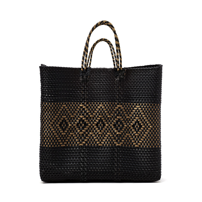 MERCADO BAG DIAMOND LINE-Black x Gold(M)