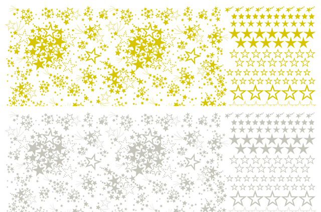 【割引】お星さまスター2色セット A3サイズ(ポーセリンアート用転写紙)