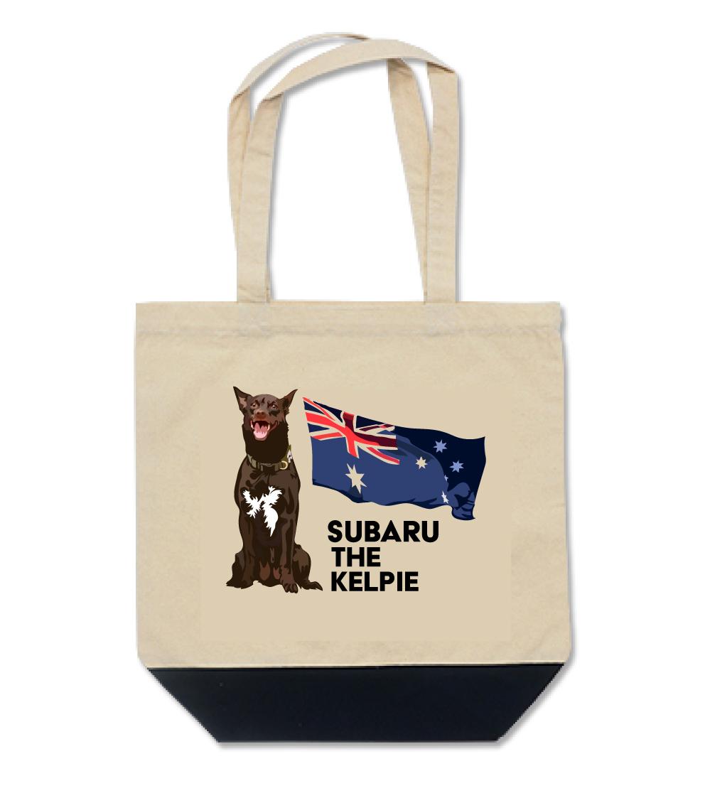 オリジナル・オーダーAK-tote-007M  オーストラリアン・ケルピー 愛犬カスタム トートバッグMサイズ