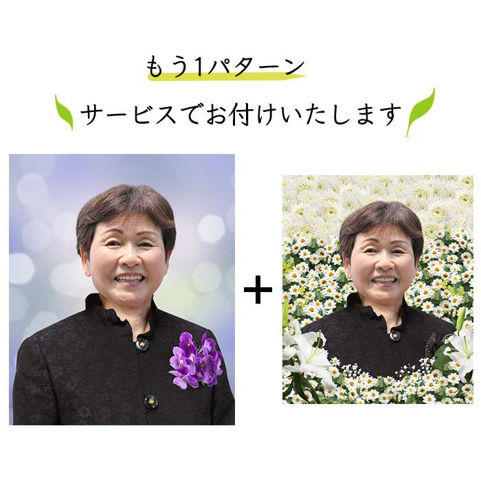 遺影制作 女性 きらめき 白い花 過ぎし日 D-008