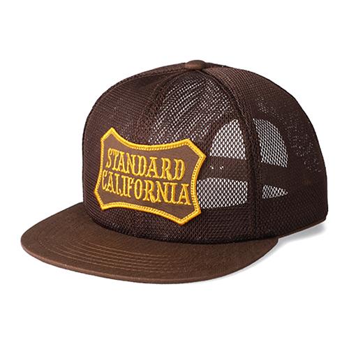 STANDARD CALIFORNIA #SD Shield Logo Patch All Mesh Cap Brown