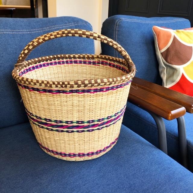 ケニア アチョリバスケット 椰子 かご