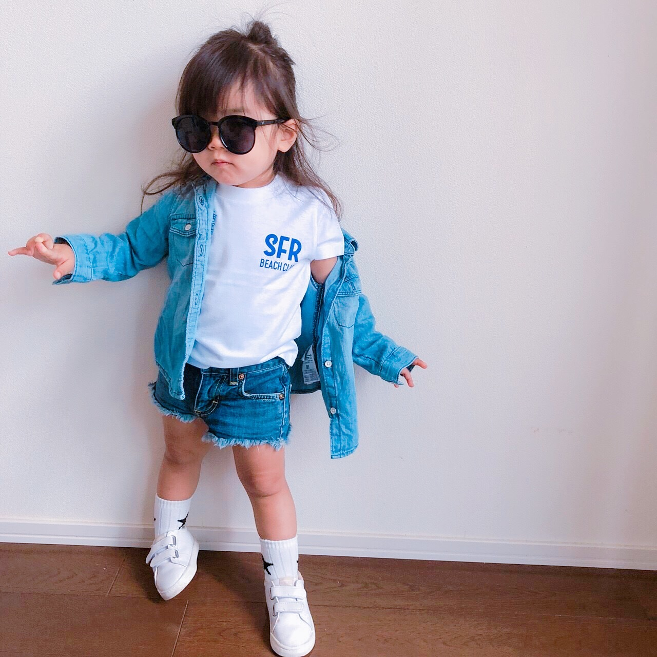 ★Kids★ SFR Tee - White/Blue