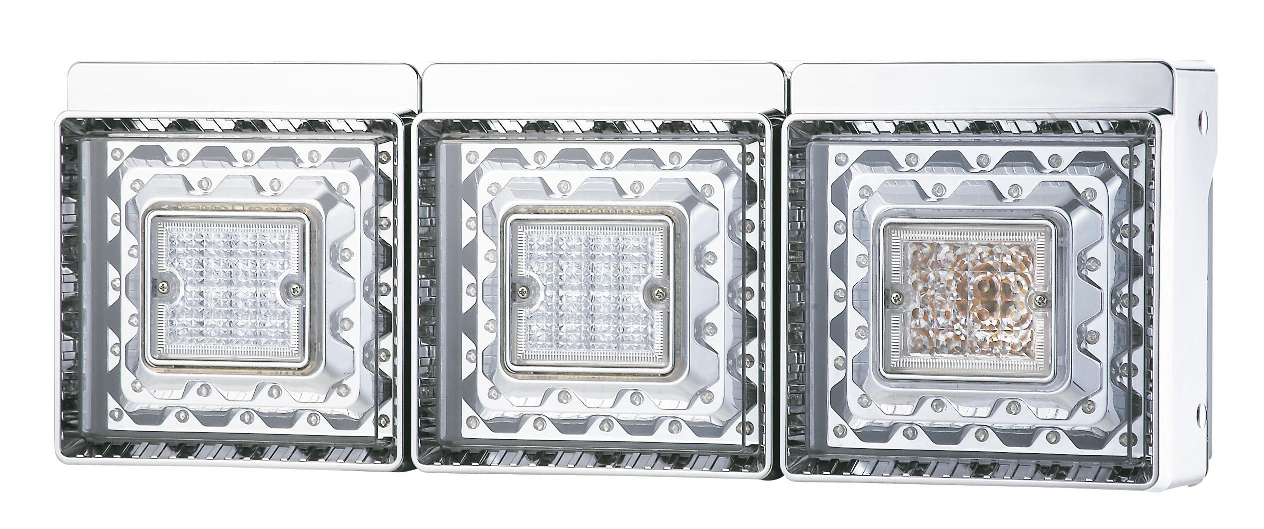 JB 角型 LEDテールランプ【3連 バックランプ付】