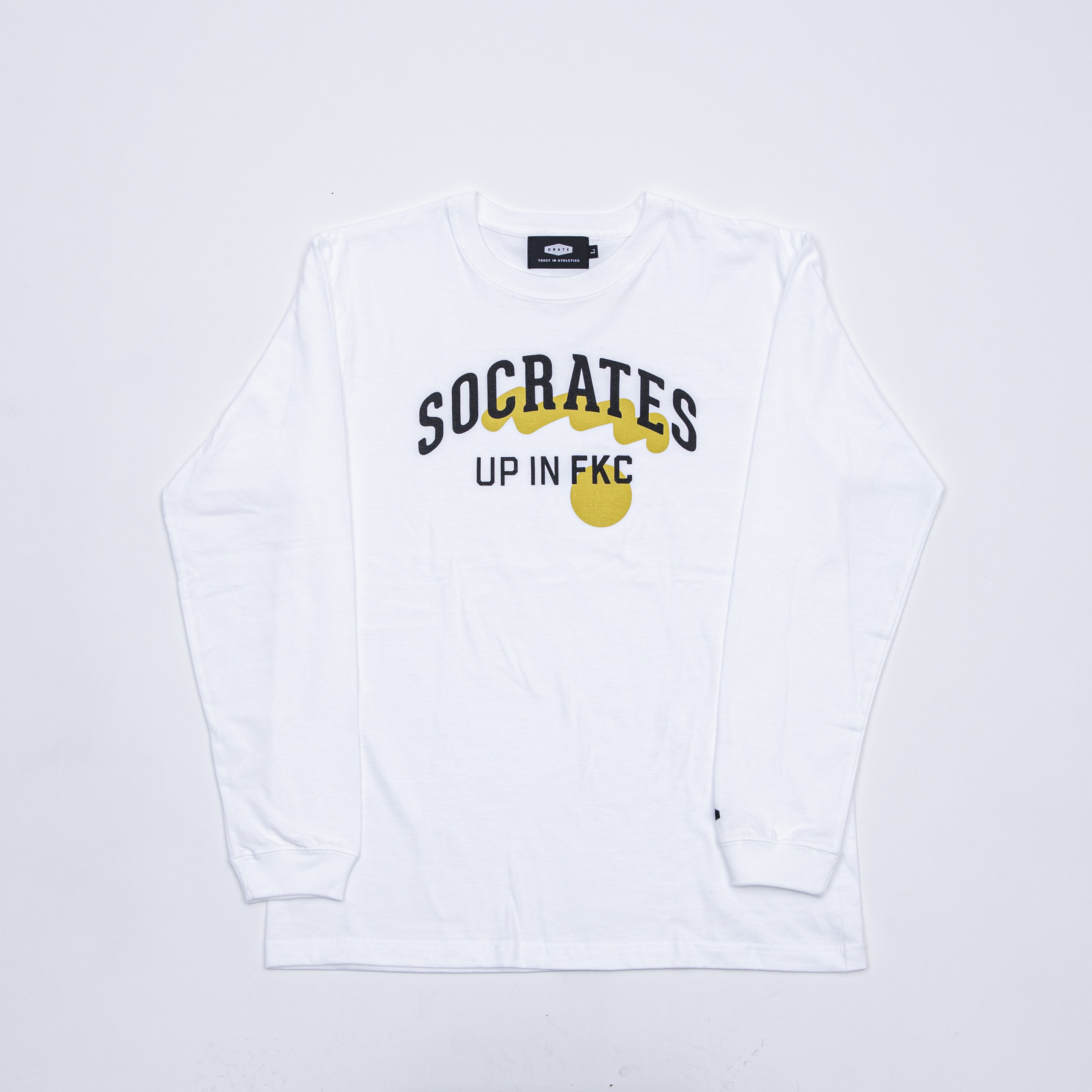 SOCRATES L/S Tee WHITE×YELLOW
