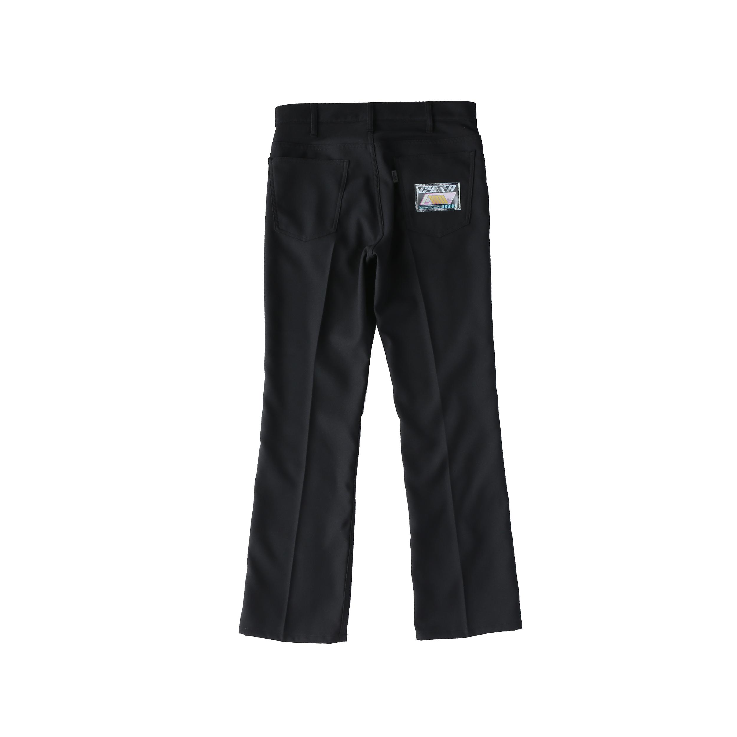 Wappen boot-cut pants / BLACK - 画像2