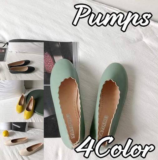 パンプス ラウンドトゥ フラットシューズ レディース 女性 シンプル 靴 PU お洒落 シューズ レトロ PUパンプス くつ ぺったんこ 通勤