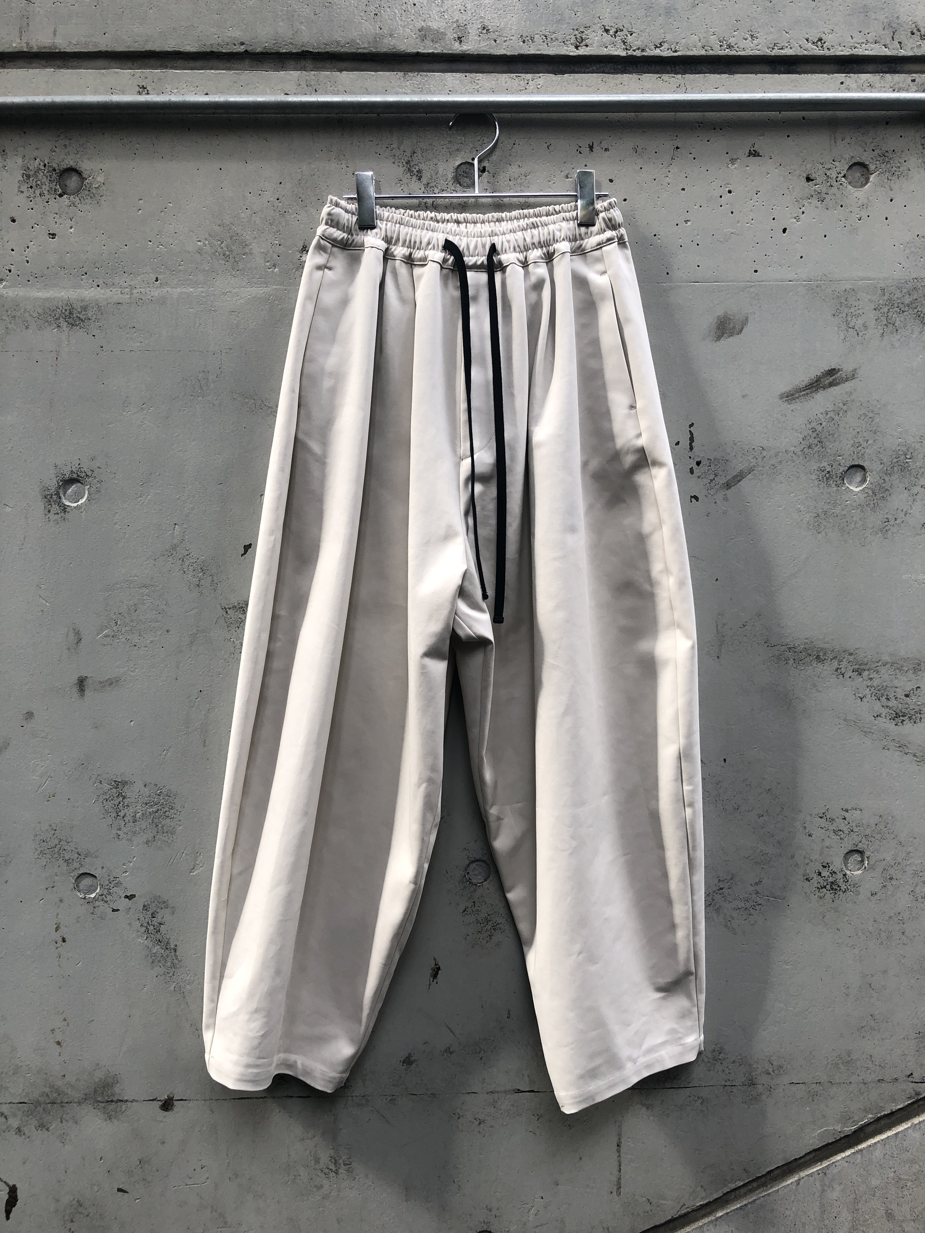 『my beautiful landlet』double cloth wide easy pants / OFF WHITE