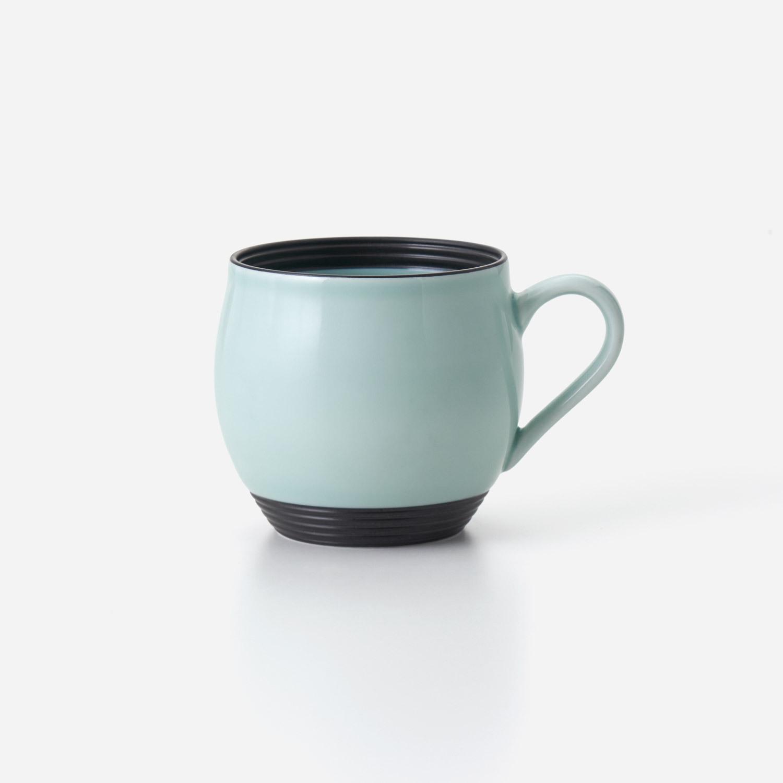 青磁黒彩 丸マグカップ