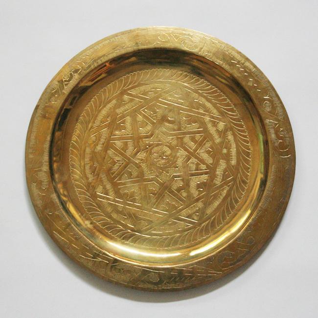 真鍮ゴールドトレー /8/ MOROCCO モロッコ