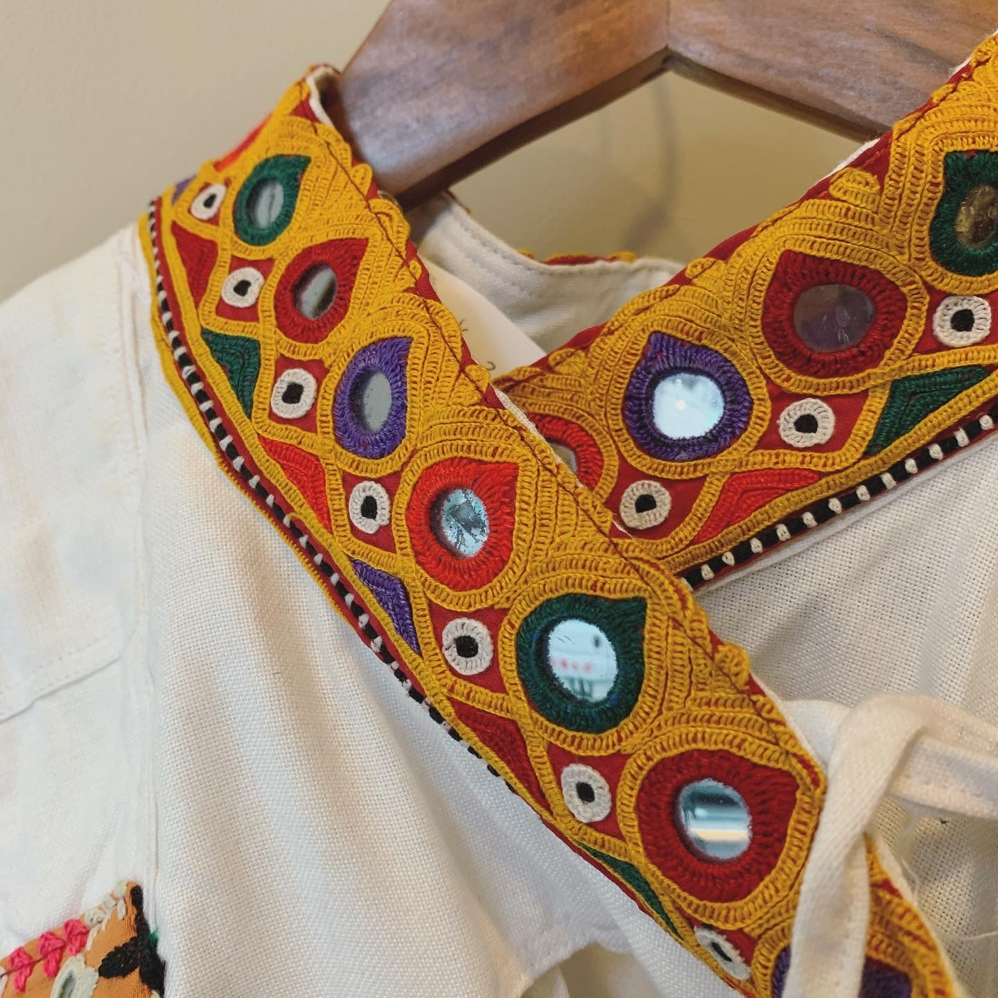 Indian rabari mirror work jacket