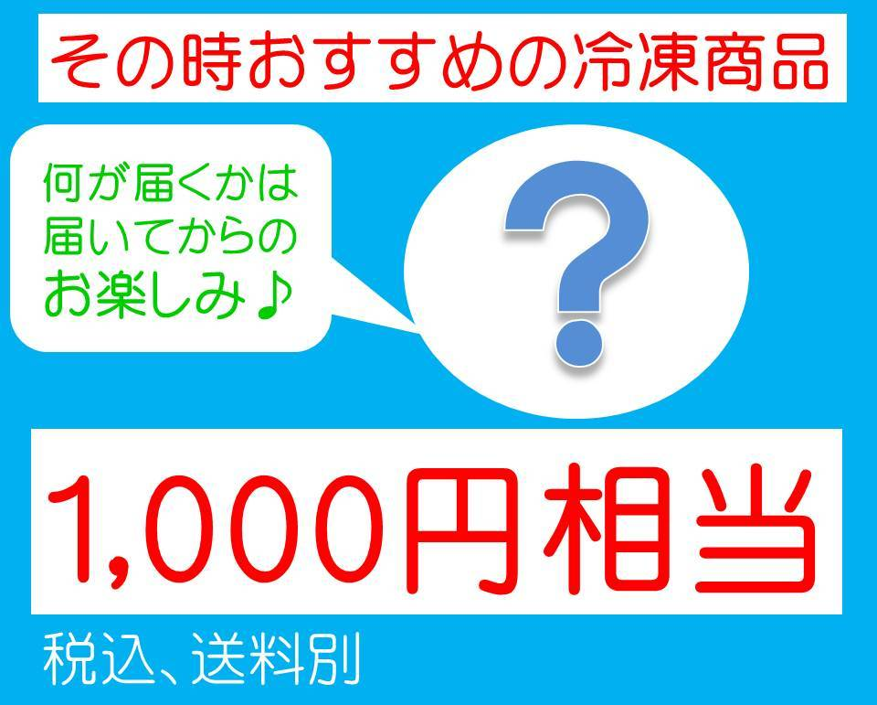 おすすめ冷凍商品1,000円相当【税込、冷凍送料別】 - 画像1