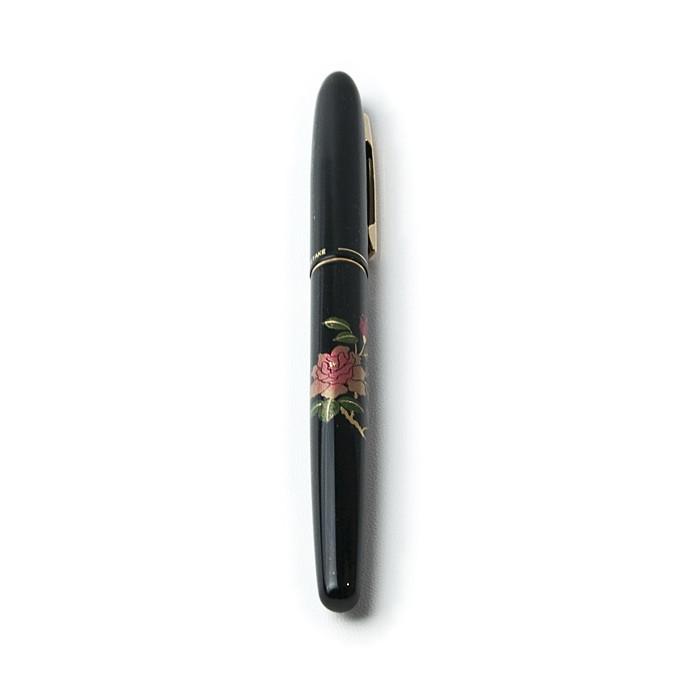 蒔絵風万年毛筆 〈薔薇の花〉