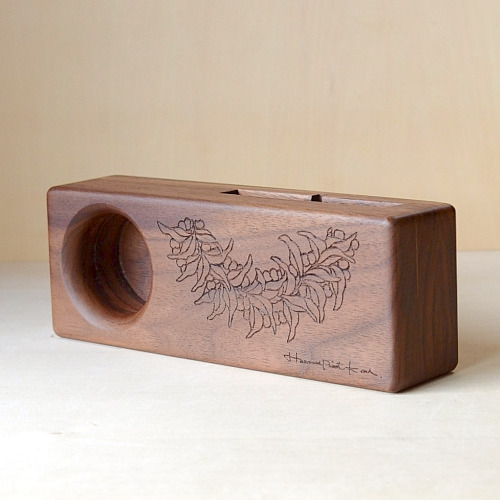 Wood eco speaker [Mile Lei / wood:ウォルナッツ] 【WES-MIL-L-3】