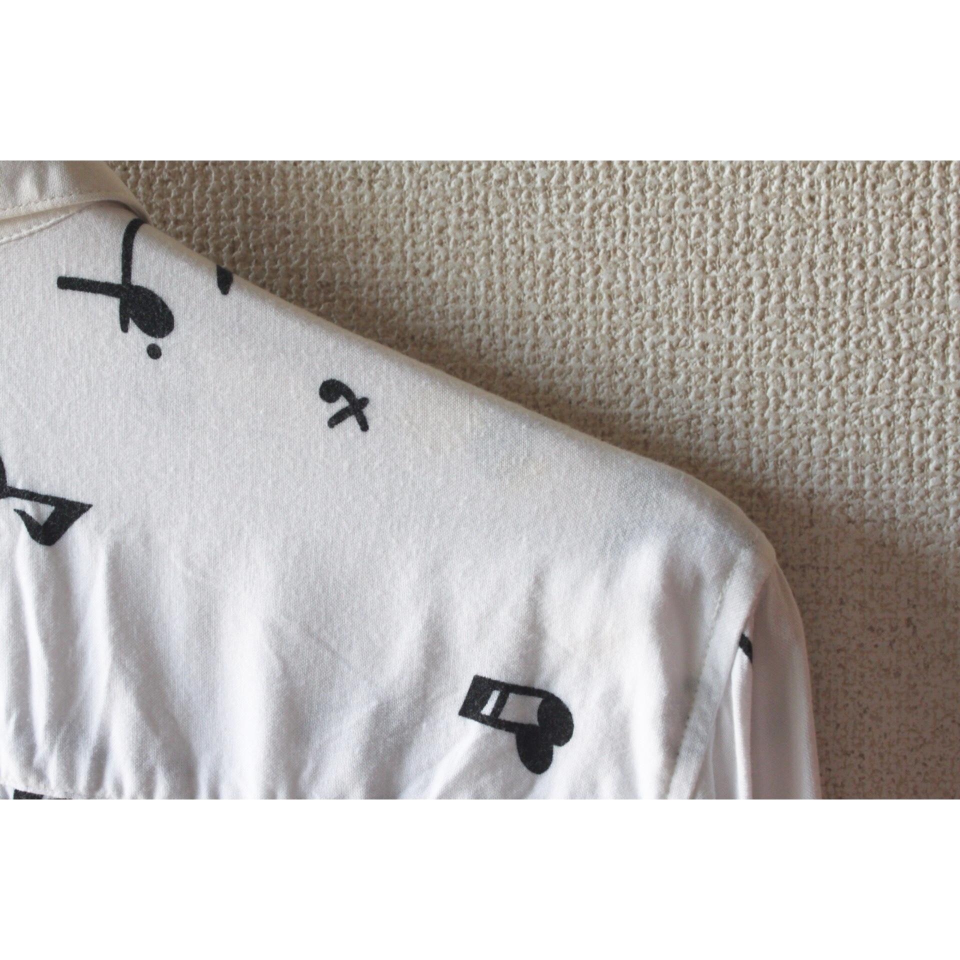 Vintage note print shirt
