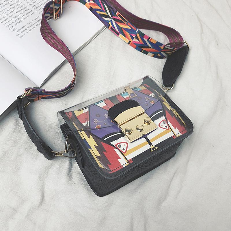 【goods】ファッション配色幾何模様バッグ22040326