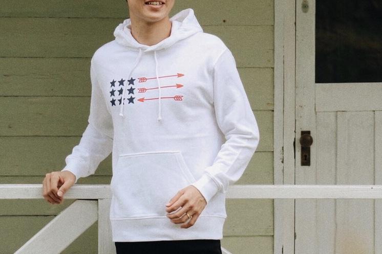 USA ArrowFlag パーカー(white)